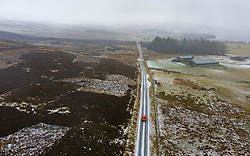 Amulree, Perthshire, Scotland, UK. 16th Dec 2019. Royal Mail post van on single-track U173 Kenmore to Amulree road seen during a wintry snow fall today. Police and Perth and Kinross Council plan to close a five-mile long stretch of the scenic road through Glen Quaich for 17 weeks from 23 Dec 2019 because it is too dangerous in snow and ice. The road through Glen Quaich is regarded as one of the most picturesque, and dangerous, in Perthshire. Iain Masterton/Alamy Live News