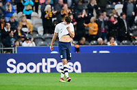Preston North End's Jordan Storey reacts after Hull City's Jarrod Bowen had scored the opening goal of the game from the penalty spot<br /> <br /> Photographer Chris Vaughan/CameraSport<br /> <br /> The EFL Sky Bet Championship - Hull City v Preston North End - Saturday 20th October 2018 - KCOM Stadium - Hull<br /> <br /> World Copyright © 2018 CameraSport. All rights reserved. 43 Linden Ave. Countesthorpe. Leicester. England. LE8 5PG - Tel: +44 (0) 116 277 4147 - admin@camerasport.com - www.camerasport.com