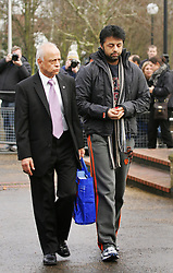 © under license to London News Pictures.  23/03/14 Shrien Dewani who's accused of arranging wife's honeymoon murder to be extradited from UK to South Africa on 7th Apr & to appear in court next day. FILE PICTURED DATED: 24/02/11 Shrien Dewani arriving at Belmarsh Crown Court with his father Prakash today (24/02/2011). Shrien is a suspect in the murder of his newlywed wife Anni Dewani. Photo credit should read: Olivia Harris/ London News Pictures