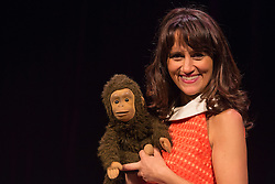 "© Licensed to London News Pictures. 29/02/2016. London, UK. Photocall with comedian and ventriloquist Nina Conti for her show ""In Your Face"" at the Criterion Theatre. Performances from 25 February to 12 March 2016. Photo credit: Bettina Strenske/LNP"