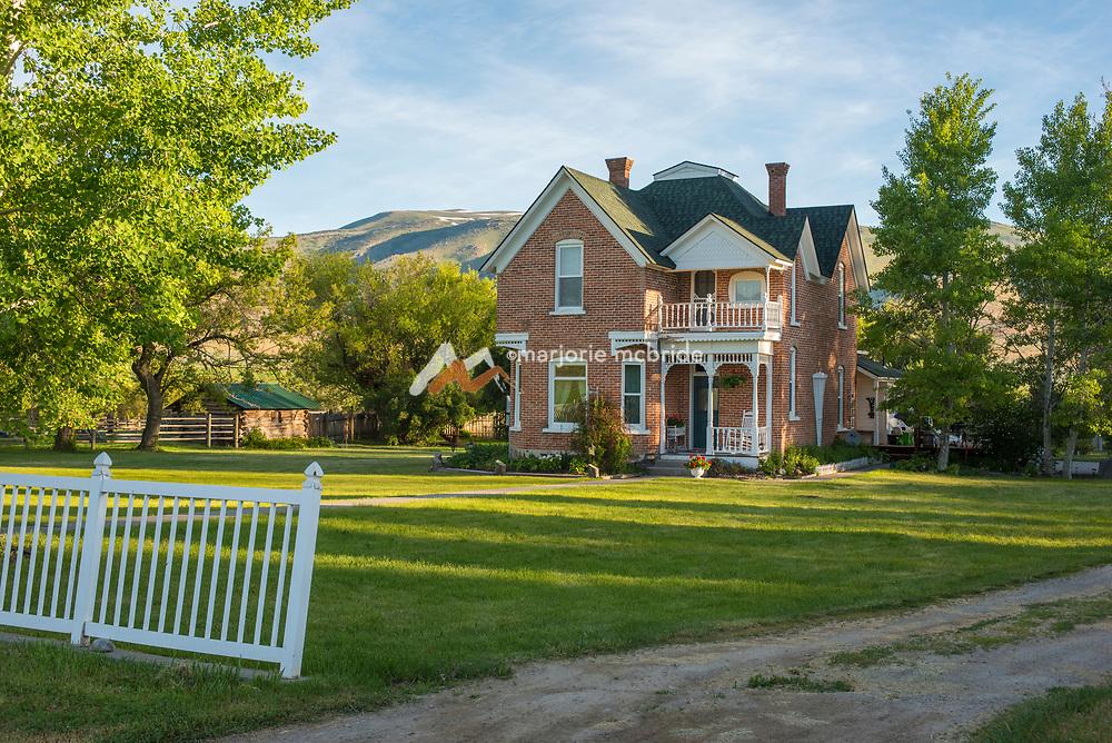 Historic Victorian home in Elba, Idaho.