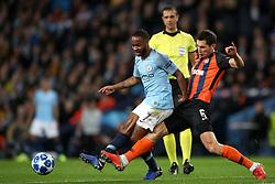 Manchester City's Raheem Sterling (left) and Shakhtar Donetsk's Taras Stepanenko battle for the ball