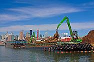 Newton Creek, Scrap Metal Barge, Queens, New York City, New York, USA