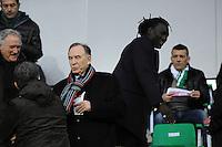 Ivan Curkovic / Bafetimbi GOMIS  - 21.12.2014 - Saint Etienne / Evian Thonon - 19eme journee de Ligue 1<br /> Photo : Jean Paul Thomas / Icon Sport