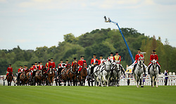 The Royal procession arriving during day one of Royal Ascot at Ascot Racecourse.