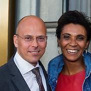 NLD/Amsterdam/20130903 - Inloop premiere Stiletto 2, Sophia Wezer en partner Olaf Schauten