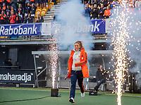 Den Bosch - Rabo fandag 2019 . hockey clinics met de spelers van het Nederlandse team. opkomst van international Laura Nunnink (Ned) .   COPYRIGHT KOEN SUYK