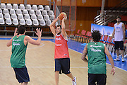 Chamutov 17 Agosto 2012 - qualificazioni Eurobasket 2013 - Allenamento<br /> Nella Foto : STEFANO MANCINELLI<br /> Foto Ciamillo/Castoria