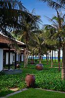 Most villas at the Nam Hai Resort have tropical ocean views.