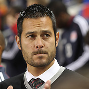 Mike Petke, Coach of the New York Red Bulls, on the sideline during the New York Red Bulls Vs Toronto FC, Major League Soccer regular season match at Red Bull Arena, Harrison, New Jersey. USA. 11th October 2014. Photo Tim Clayton