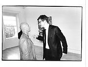 Nigel Coates, Jay Jopling, Lari Pittman private view I.C.A 13 July 1998© Copyright Photograph by Dafydd Jones 66 Stockwell Park Rd. London SW9 0DA Tel 020 7733 0108 www.dafjones.com