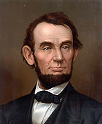 President Abraham Lincoln 1864 . 16th President of the United States of America.