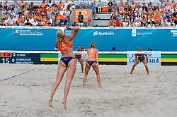 17.07.2018, Apeldoorn, Marktplein<br /> Beachvolleyball, 2018 CEV DELA Beach Volleyball European Championship<br /> <br /> <br /> <br /> Foto: Conny Kurth / www.kurth-media.de