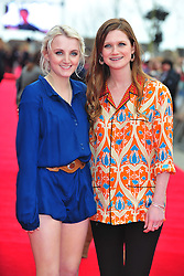 © Licensed to London News Pictures. 31/03/2012. Watford, England. Evanna Lynch and Bonnie Wright attends The Warner Bros. Studio Tour London - The Making of Harry Potter ** GRAND OPENING at Leavesden Studios near Watford Hertfordshire  Photo credit : ALAN ROXBOROUGH/LNP