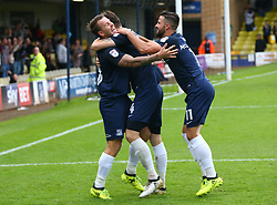 September 30, 2017 - Southend, England, United Kingdom - Simon Cox of Southend United celebrates scoring his sides first goal .during Sky Bet League one match between Southend United against Blackpool at  Roots Hall,  Southend on Sea England on 30 Sept  2017  (Credit Image: © Kieran Galvin/NurPhoto via ZUMA Press)