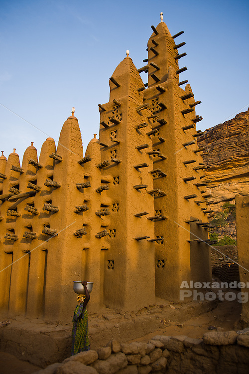 Mud brick mosque in Dogon country, Mali