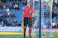 Assistant Referee checks the nets during the UEFA European Under 17 Championship 2018 match between England and Israel at Proact Stadium, Whittington Moor, United Kingdom on 4 May 2018. Picture by Mick Haynes.