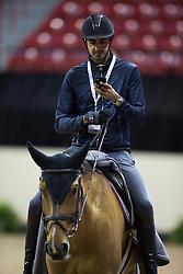 Sheikh Ali Al Thani Bin Khalid, (QAT), First Devision <br /> Morning training session<br /> Longines FEI World Cup™ Jumping Final<br /> Las Vegas 2015<br />  © Hippo Foto - Dirk Caremans<br /> 16/04/15
