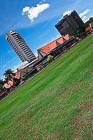 The old colonial Royal Selangor Club across the field near Merdeka Square in downtown Kuala Lumpur.