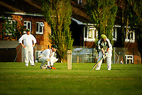 Batting at West Island Cricket Club, Isle of Wight