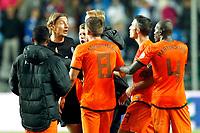 TALLINN, 06-09-2013 Stadion, WK kwalificatie Estland - Nederland 2-2. Robin van Persie heeft het aan de stok met doelman (1) Sergei Pareiko