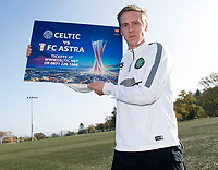 21/10/14 <br /> LENNOXTOWN<br /> Celtic's Stefan Johansen is on hand to promote his side's upcoming UEFA Europa League clash against FC Astra