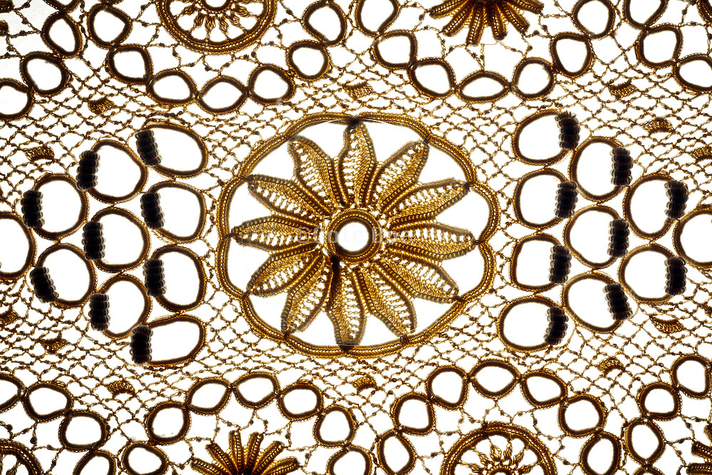 lace with near invisible round amplifying glass
