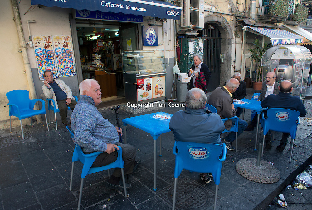 pensioners hanging out in naples