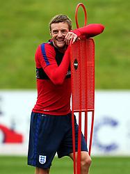 England's Jamie Vardy - Mandatory by-line: Matt McNulty/JMP - 29/08/2017 - FOOTBALL - St George's Park National Football Centre - Burton-upon-Trent, England - England Training and Press Conference