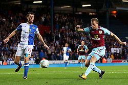 Chris Wood of Burnley fires a shot at goal  - Mandatory by-line: Matt McNulty/JMP - 23/08/2017 - FOOTBALL - Ewood Park - Blackburn, England - Blackburn Rovers v Burnley - Carabao Cup - Second Round