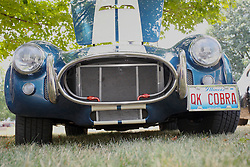 04 August 2012:  front of a vintage A/C Shelby Cobra displayed at the McLean County Antique Automobile Club Show at the David Davis Mansion, Bloomington IL