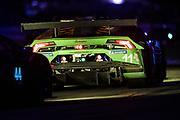 March 12-16, 2019: Mobil 1 12 hours of Sebring. #11 GRT Grasser Racing Team Lamborghini Huracan GT3, Orange 1 Racing, GTD: Mirko Bortolotti battles with #44 Magnus Racing Lamborghini Huracan GT3, GTD: Andy Lally