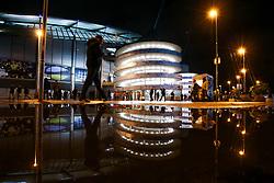 Fans arrive at The Etihad Stadium ahead of The UEFA Champions League fixture between Manchester City and Shakhtar Donetsk - Mandatory by-line: Robbie Stephenson/JMP - 07/11/2018 - FOOTBALL - Etihad Stadium - Manchester, England - Manchester City v Shakhtar Donetsk - UEFA Champions League