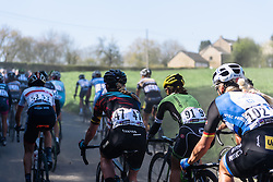 Dust thrown up from the helicopter above - Flèche Wallonne Femmes - a 137km road race from starting and finishing in Huy on April 20, 2016 in Liege, Belgium.