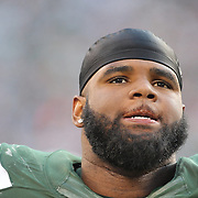 Sheldon Richardson, New York Jets, during the New York Jets Vs Miami Dolphins  NFL American Football game at MetLife Stadium, East Rutherford, NJ, USA. 1st December 2013. Photo Tim Clayton