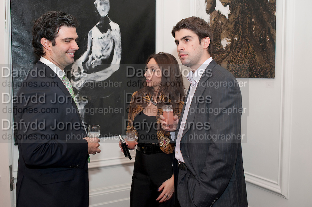 Paul Vollman; Jessica Hollander Kane; Brad Berman, Gino Hollander exhibition, Also a chance to see  the flat at 105-106 Lancaster Gate which is for sale. London. 4 February 2010.