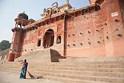 Chet Singh ghat on the bank of the river Ganges in Varanasi, Uttar Pradesh, India