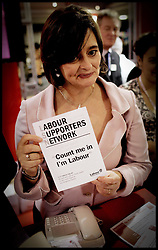 Cherie Blair tours around the stands of the Labour Party Conference ,Monday 26th September 2005PRESS ASSOCIATION Photo. Photo Credit should read:Andrew Parsons/PA