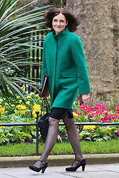Downing Street, London, April 19th 2016. Northern Ireland Secretary Theresa Villiers arrives at Downing Street for the weekly cabinet meeting.