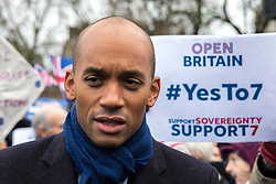 © Licensed to London News Pictures. 13/12/2017. London, UK. Chuka Umunna MP joins a rally in support of Amendment 7 to the EU Withdrawal Bill. Photo credit: Rob Pinney/LNP