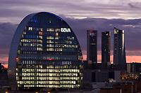 05/Febrero/2017 Madrid<br /> Edificio Vela de BBVA en Madrid.<br /> <br /> © JOAN COSTA