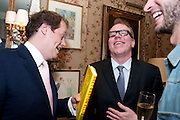 TOM PARKER BOWLES; BRETT EASTON ELLIS;  , Dylan Jones hosts a party for Brett Easton Ellis and his new book.- Imperial Bedrooms. Mark's Club. London. 15 July 2010.  -DO NOT ARCHIVE-© Copyright Photograph by Dafydd Jones. 248 Clapham Rd. London SW9 0PZ. Tel 0207 820 0771. www.dafjones.com.
