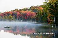64776-02016 Council Lake in fall color Alger Co.  MI