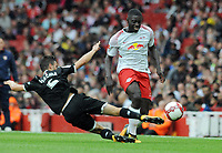 Football - 2017 Emirates Cup [pre-season friendly competition] - RB Leipzig vs. Sevilla<br /> <br /> Dayot Upamecano of Leipzig is tackled by Sebastien Corchia, at The Emirates.<br /> <br /> COLORSPORT/ANDREW COWIE