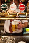"""Gasthaus """"Budvarka"""", wo alle möglichen Sorten von Budweiser Budvar vom Fass ausgeschenkt werden."""