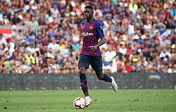 August 15, 2018 - Barcelona, Spain - Ousmane Dembele during the match between FC Barcelona and C.A. Boca Juniors, corresponding to the Joan Gamper trophy, played at the Camp Nou, on 15th August, 2018, in Barcelona, Spain. (Credit Image: © Joan Valls/NurPhoto via ZUMA Press)