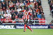 Sunderland defender Papy Djilobodji (5)  during the Premier League match between Sunderland and Middlesbrough at the Stadium Of Light, Sunderland, England on 21 August 2016. Photo by Simon Davies.