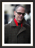 BALTIMORE FILM MAKER JOHN WATERS  STROLLING DOWN PARK LANE LONDON<br /> Limited Edition A3 Museum-quality Archival signed Framed Photograph