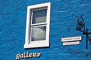 Gaelic language street sign for Main Street on the Ardnamurchan Peninsula in Highlands of Scotland