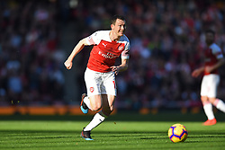 February 24, 2019 - London, England, United Kingdom - Arsenal defender Stephan Lichtsteiner in action during the Premier League match between Arsenal and Southampton at the Emirates Stadium, London on Sunday 24th February 2019. (Credit Image: © Mi News/NurPhoto via ZUMA Press)